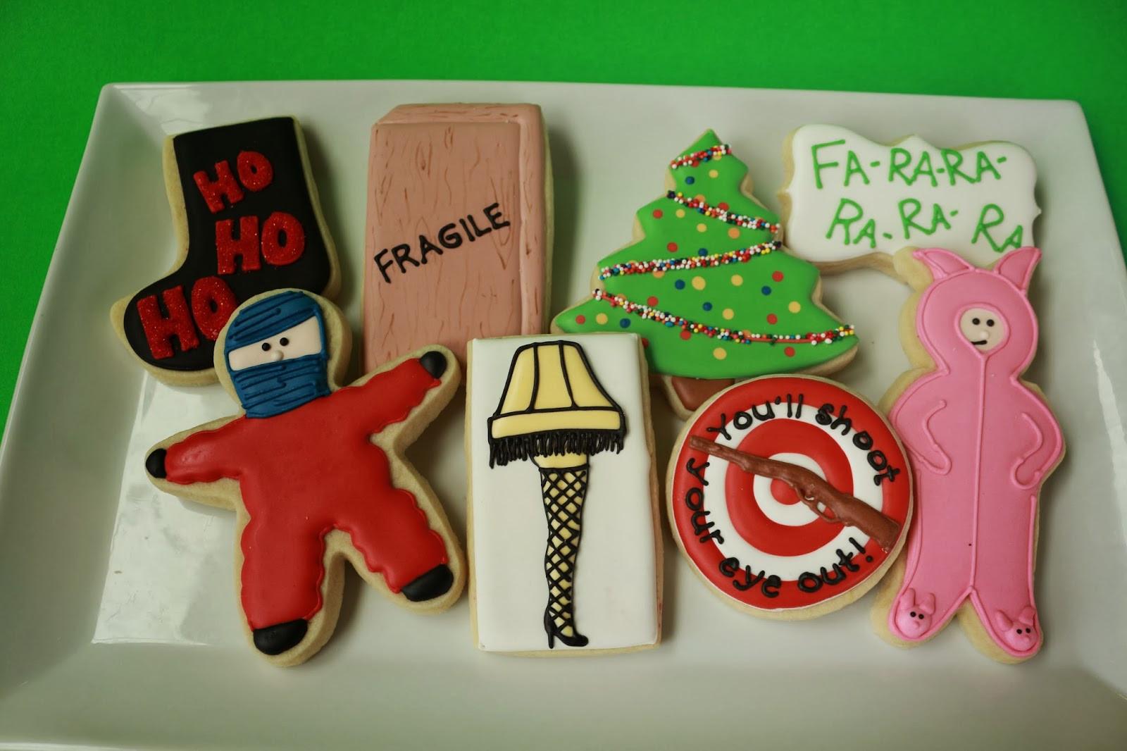 Christmas Story Cookies  Jaclyn s Cookies Christmas Cookies