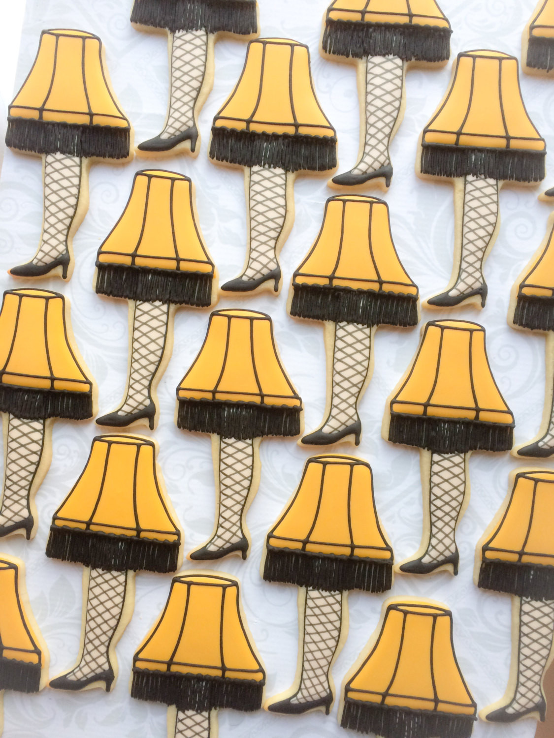 Christmas Story Cookies  A Christmas Story Leg Lamp Cookies e Dozen Decorated