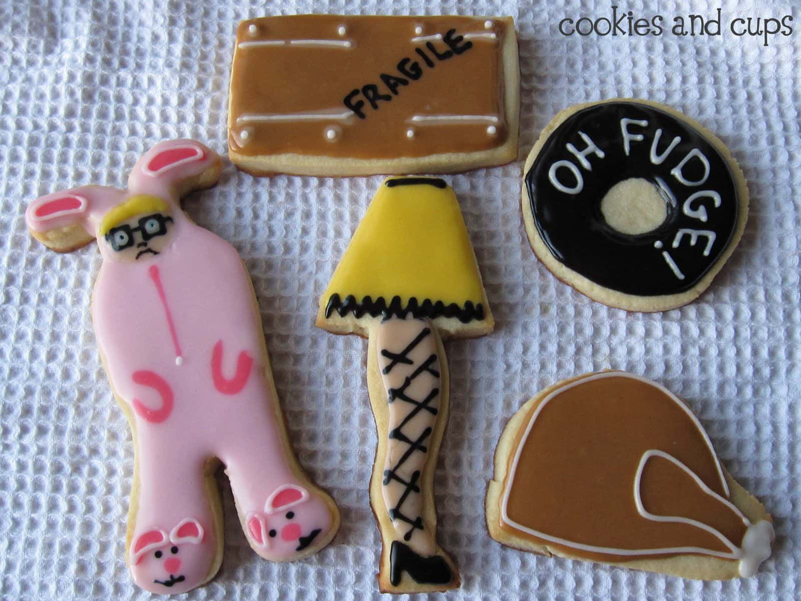 """Christmas Story Cookies  """"You ll shoot your eye out"""" Cookies and Cups"""