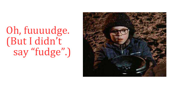 """Christmas Story Fudge  Baking for the fice Holidays """"A Christmas Story"""" Theme"""