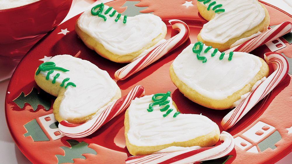 Christmas Sugar Cookies Pillsbury  Holiday Sugar Cookie Skates recipe from Pillsbury