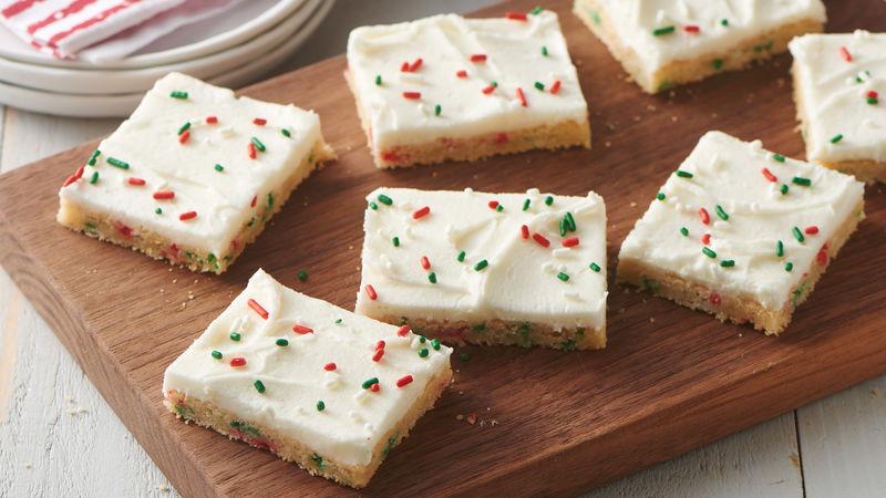 Christmas Sugar Cookies Pillsbury  Easiest Ever Holiday Sugar Cookie Bars Recipe Pillsbury