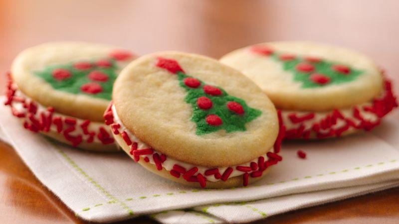 Christmas Sugar Cookies Pillsbury  Christmas Tree Sandwich Cookies Recipe Pillsbury