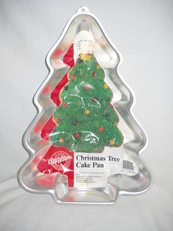 Christmas Tree Baking Pan  Christmas Tree Cake Pan Vintage Wilton 1986