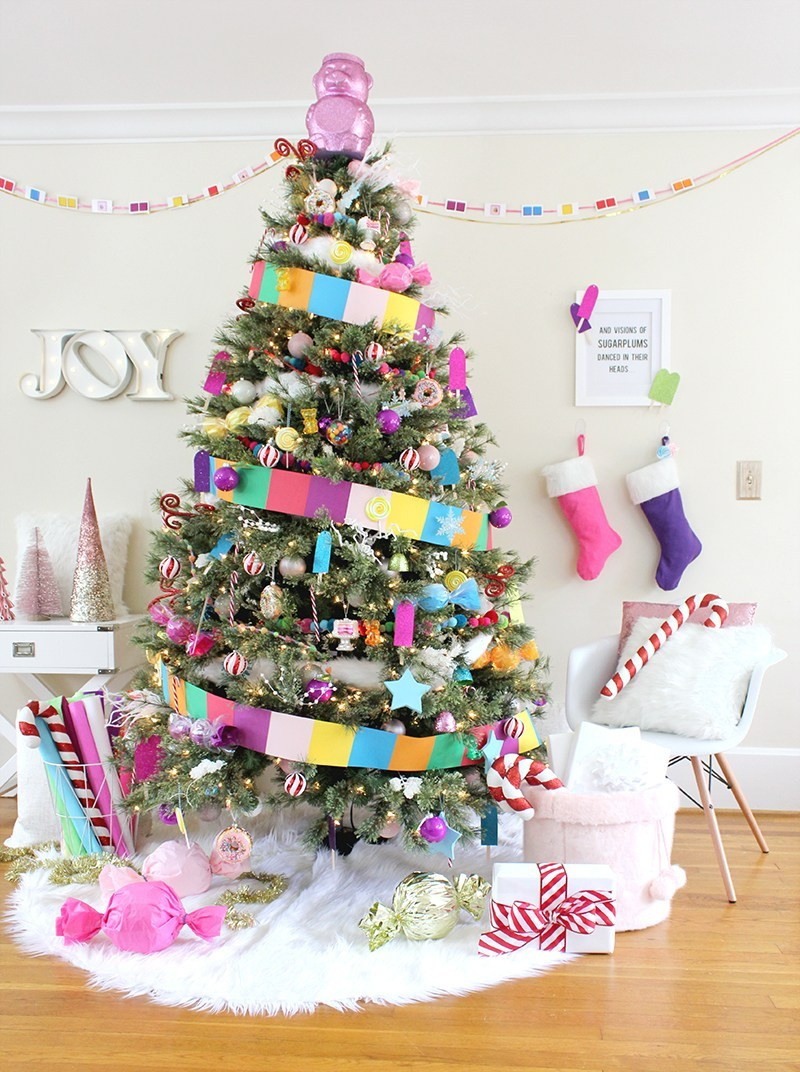 Christmas Tree Candy  Candy Land Christmas Tree Lines Across
