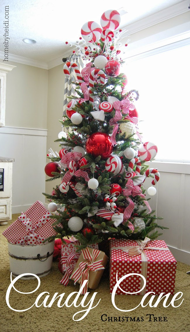 Christmas Tree Candy  Home By Heidi Candy Cane Christmas Tree