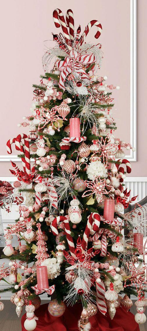 Christmas Tree Candy  18 DIY Candy Cane Christmas Tree Ideas