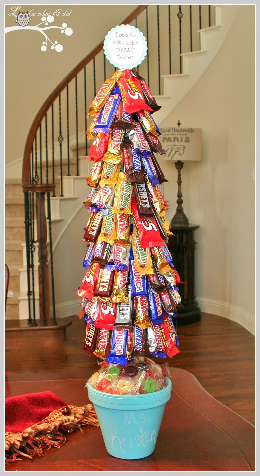 Christmas Tree Candy  Lookie What I Did A Candy Topiary