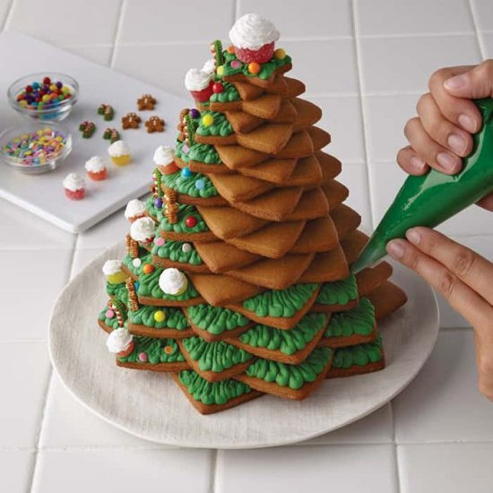 Christmas Tree Cookies Recipe  3D Cookie Christmas Tree Recipe With Video Tutorial