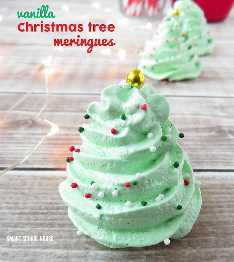 Christmas Tree Cookies Recipe  Christmas Meringue Cookies
