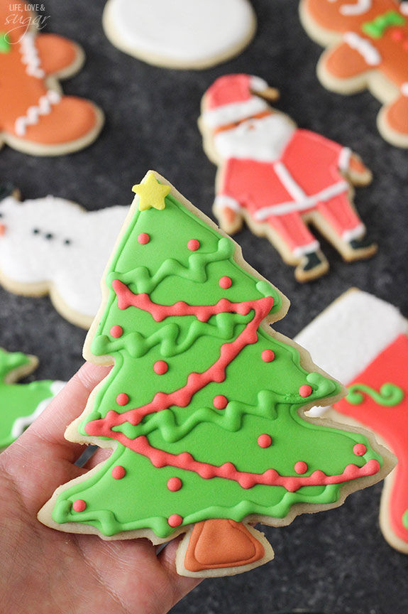 Christmas Tree Cut Out Cookies  Christmas Tree Cutout Sugar Cookies s and