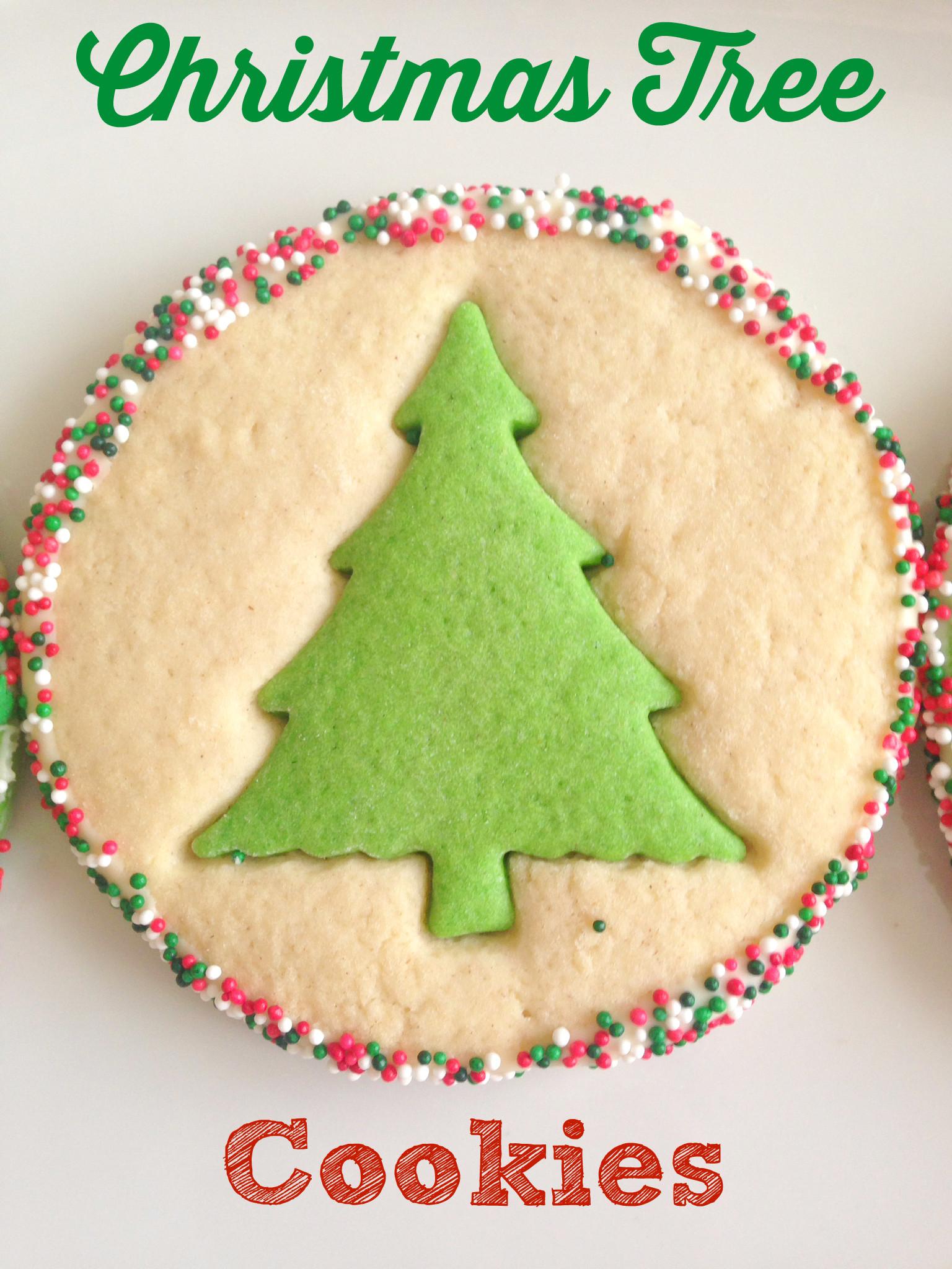 Christmas Tree Cut Out Cookies  Christmas Tree Cookies