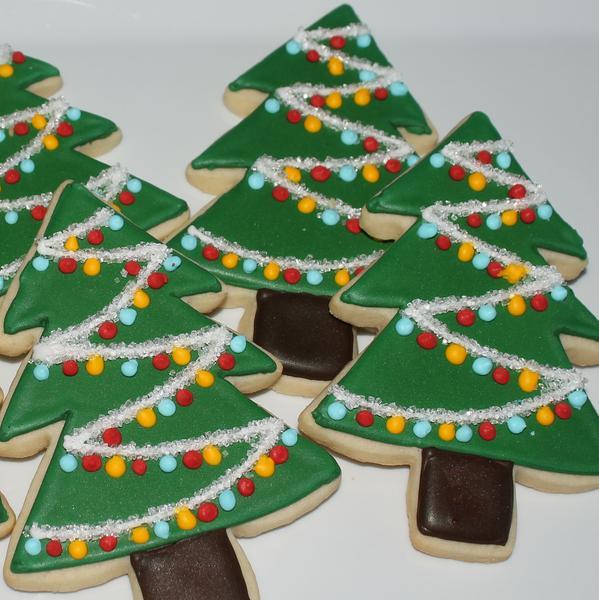 Christmas Tree Cut Out Cookies  Decorated Tree Sugar Cookies – Sweet Seidner s Bake Shop