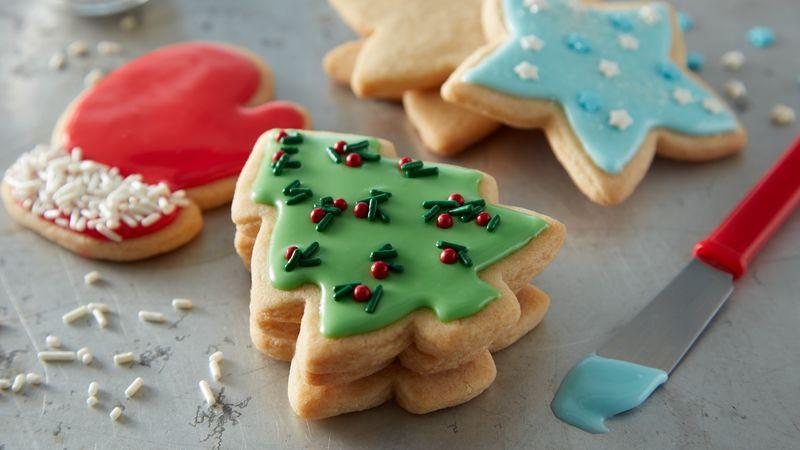 Christmas Tree Cut Out Cookies  Easy Christmas Sugar Cookie Cutouts Recipe BettyCrocker