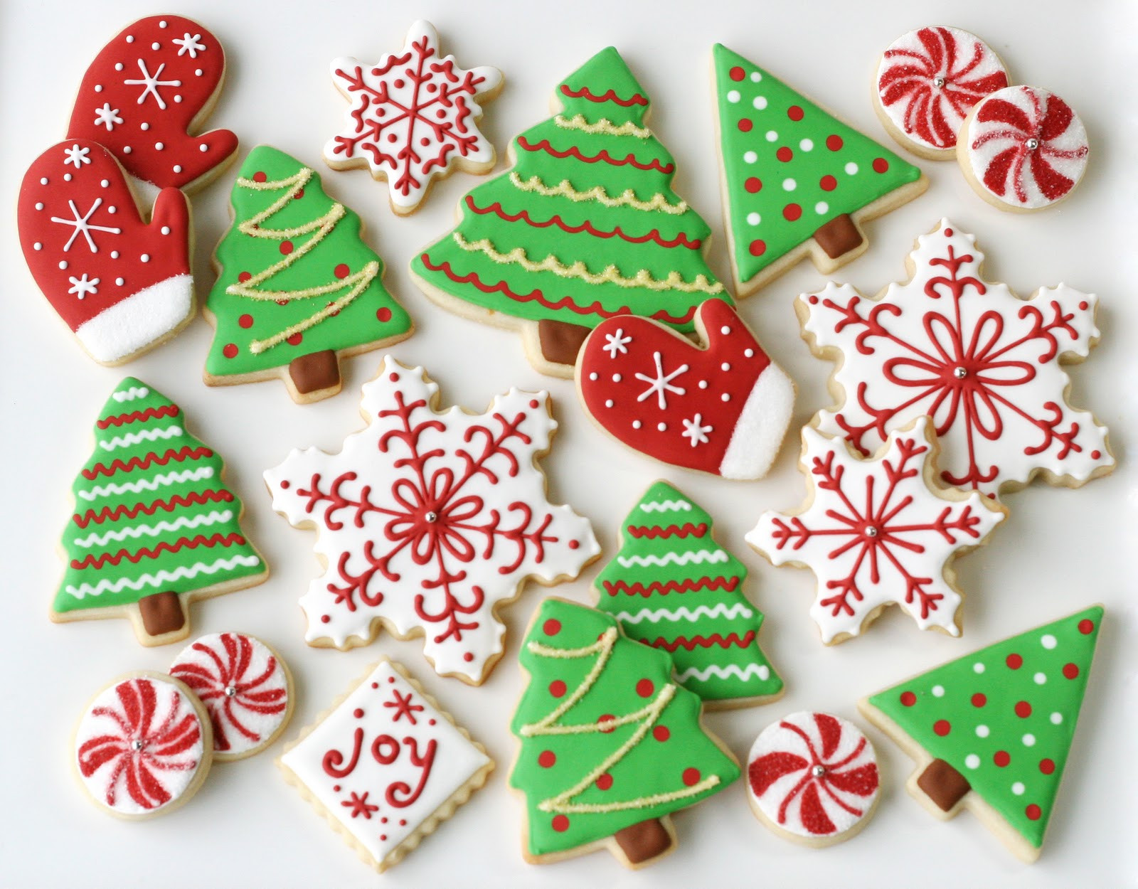 Christmas Tree Cut Out Cookies  Christmas Tree Butter Cookies