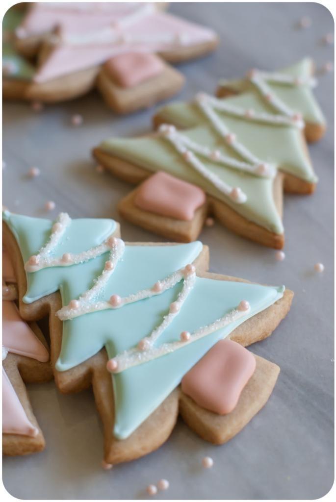 Christmas Tree Cut Out Cookies  Cinnamon Sugar Cut Out Cookies Bake at 350°