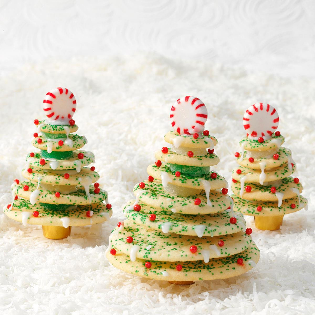 Christmas Tree Cut Out Cookies  Stacked Christmas Tree Cookies Recipe