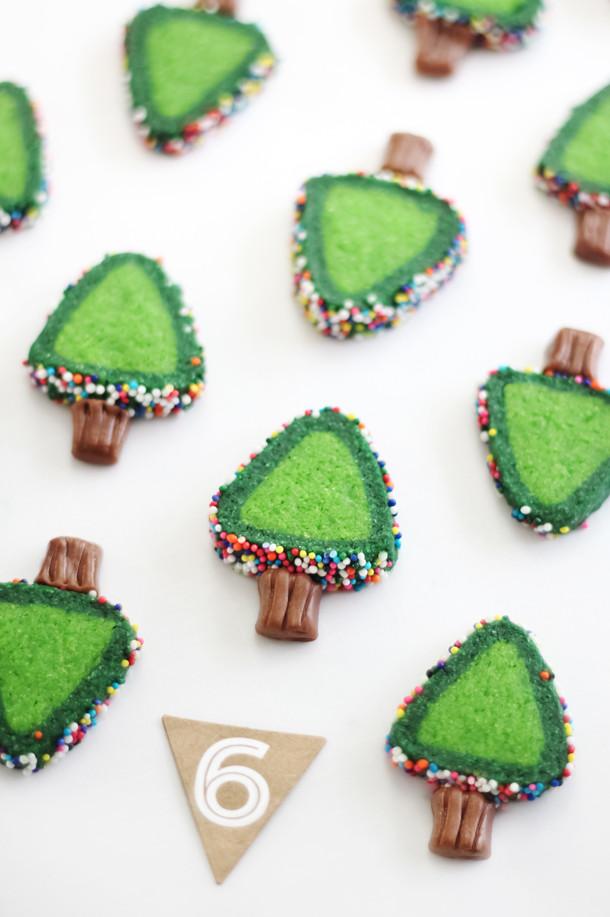 Christmas Tree Cut Out Cookies  Sprinkle Christmas Tree Cookies