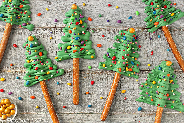 Christmas Tree Pretzels  Festive Christmas Tree Pretzel Rods