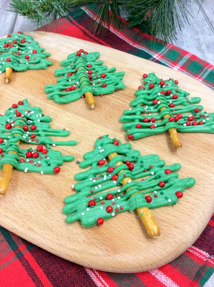 Christmas Tree Pretzels  Christmas Tree Pretzel Sticks Princess Pinky Girl