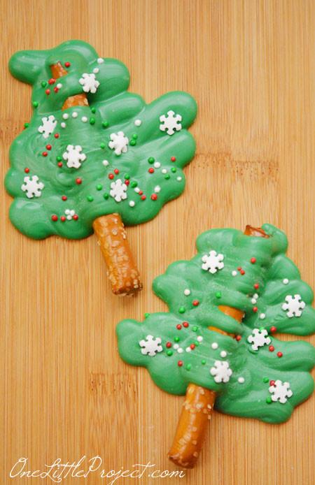 Christmas Tree Pretzels  Chocolate Pretzel Christmas Trees