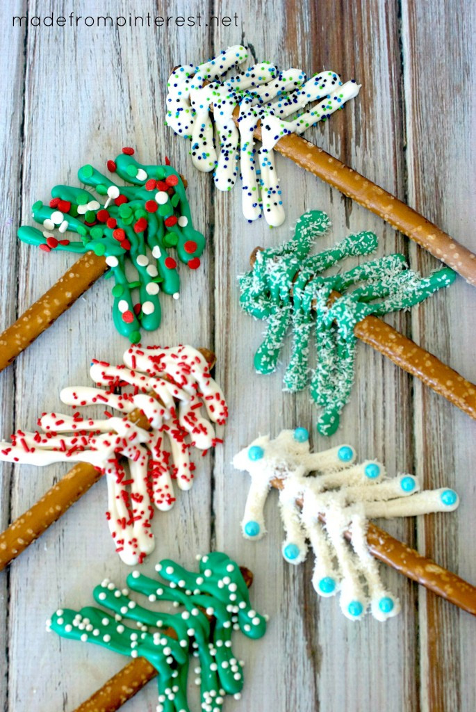 Christmas Tree Pretzels  Pretzel Christmas Trees Made From Pinterest