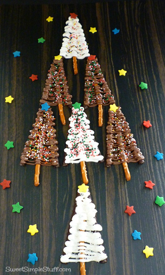 Christmas Tree Pretzels  The Easiest Christmas Tree