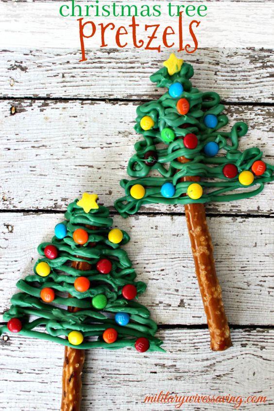 Christmas Tree Pretzels  Christmas Tree Pretzels