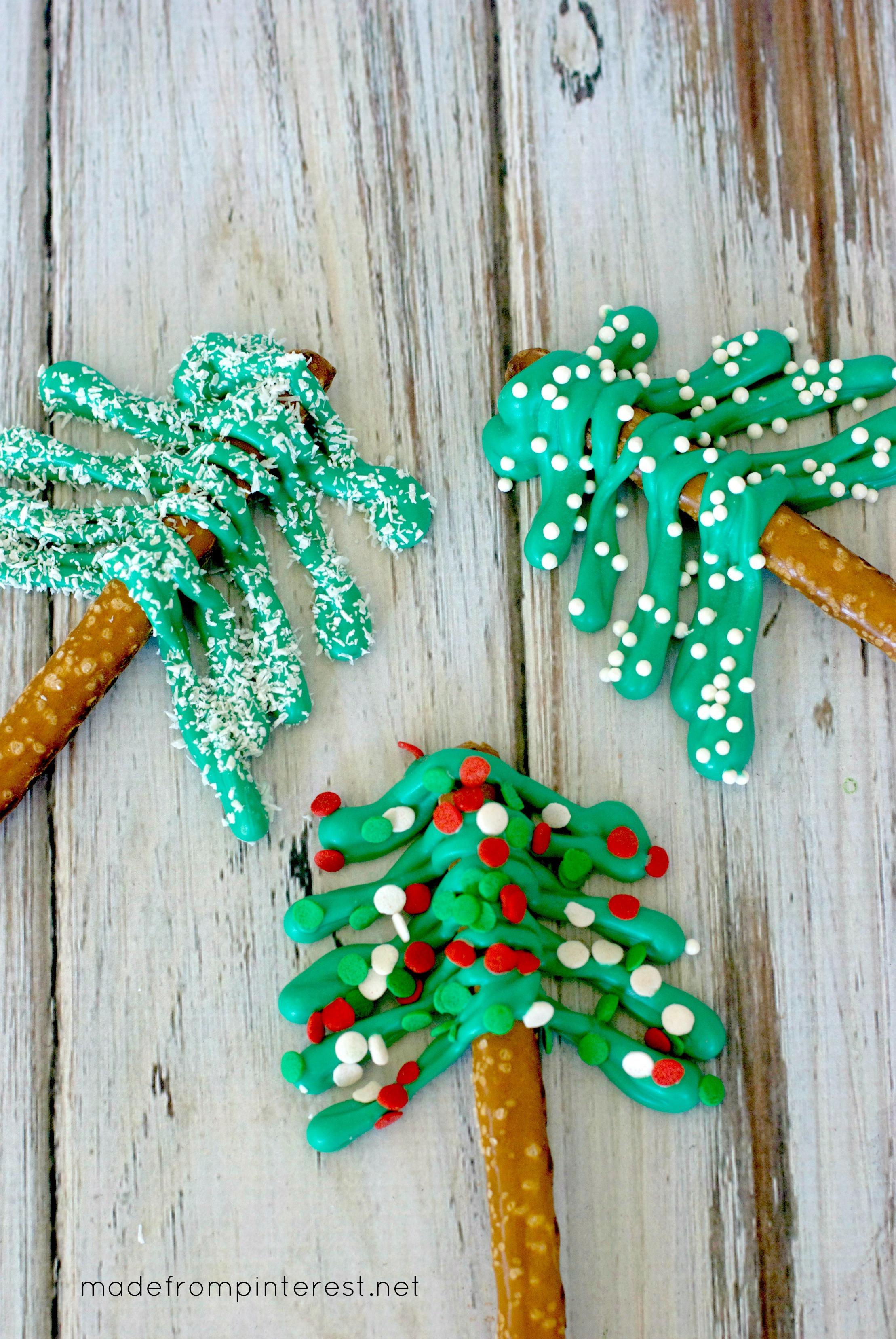 Christmas Tree Pretzels  Pretzel Christmas Trees TGIF This Grandma is Fun