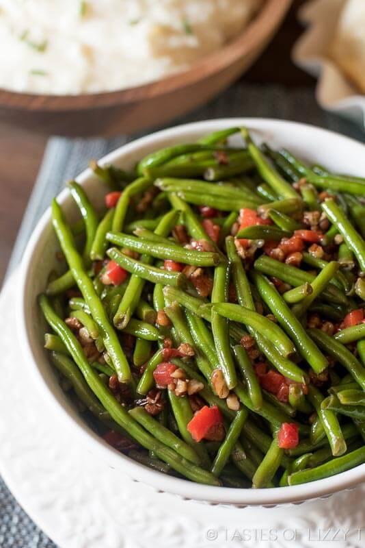 Christmas Veggies Side Dishes  Italian Green Beans with Parmesan Cheese