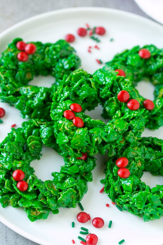 Christmas Wreath Cookies With Corn Flakes  Christmas Wreath Cookies Dinner at the Zoo