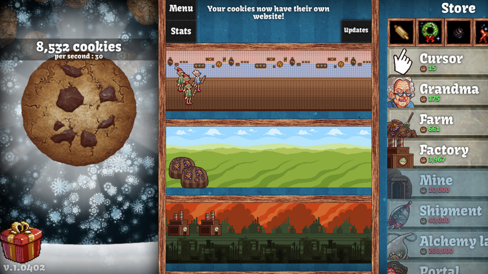 Cookie Clicker Christmas Cookies  Cookie er updated with Christmas cheer Polygon