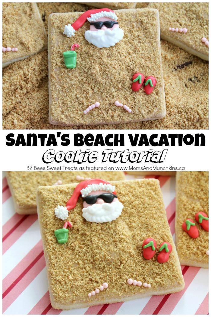 Cool Christmas Cookies  Santa Beach Cookies Tutorial Moms & Munchkins