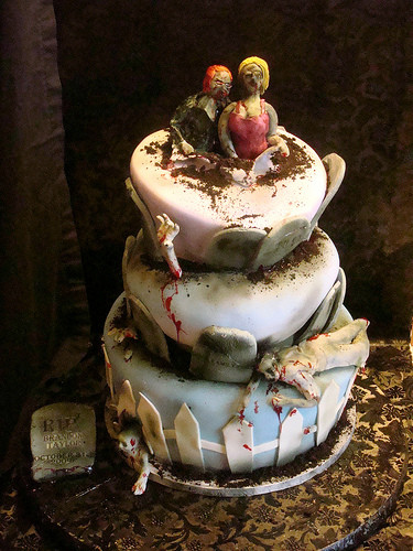 Cool Halloween Cakes  Revelry Invitation Studio Chatter Halloween Wedding Cakes