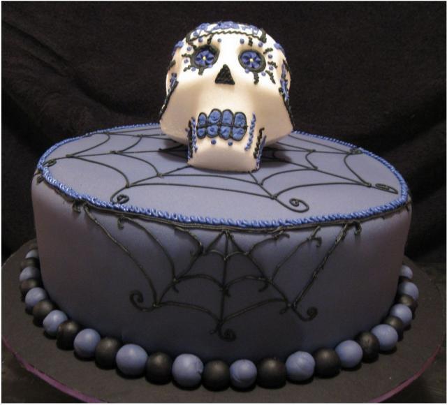 Cool Halloween Cakes  Very cool dark purple halloween cake photos JPG 1 ment