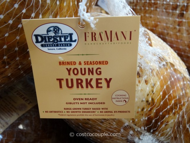 Costco Thanksgiving Turkey  Fra'mani Diestel Whole Brined And Seasoned Turkey