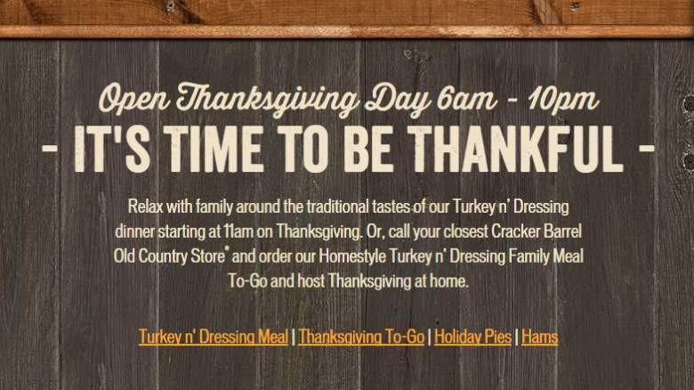 Cracker Barrel Thanksgiving Dinner To Go Price  Cracker Barrel Thanksgiving Dinner Menu 2015 & To Go Meals