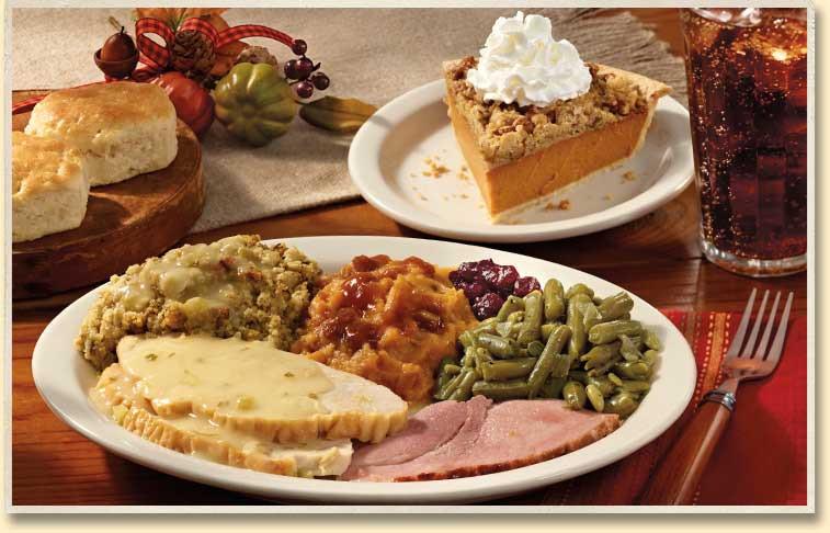 Cracker Barrel Thanksgiving Dinners  chalupa1963