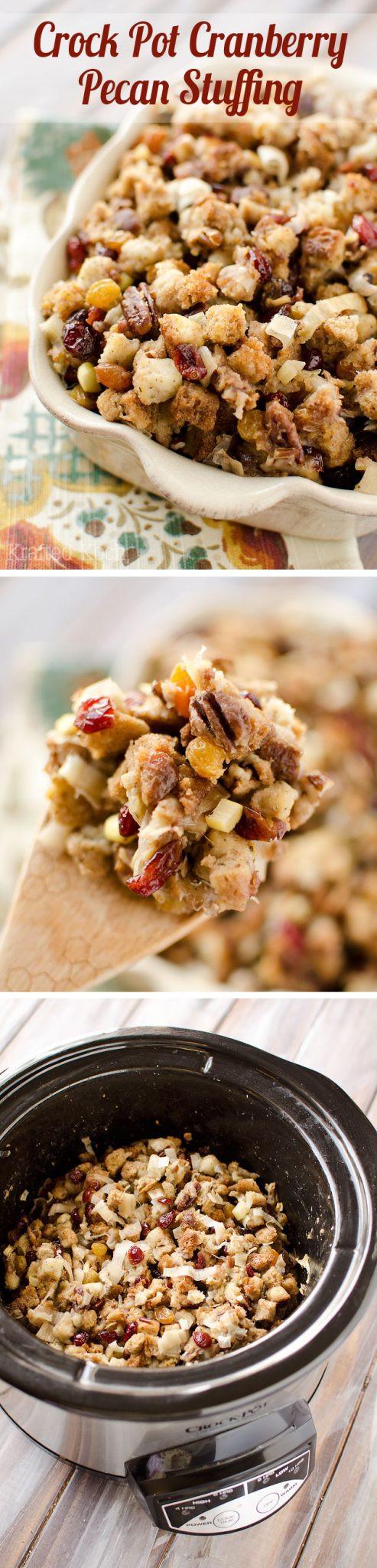 Crock Pot Thanksgiving Side Dishes  Crock Pot Cranberry Pecan Stuffing