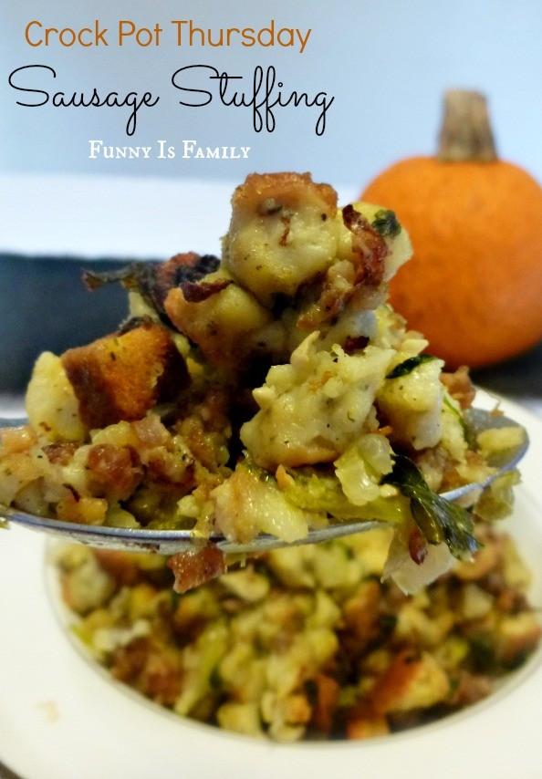 Crock Pot Thanksgiving Side Dishes  Crock Pot Sausage Stuffing
