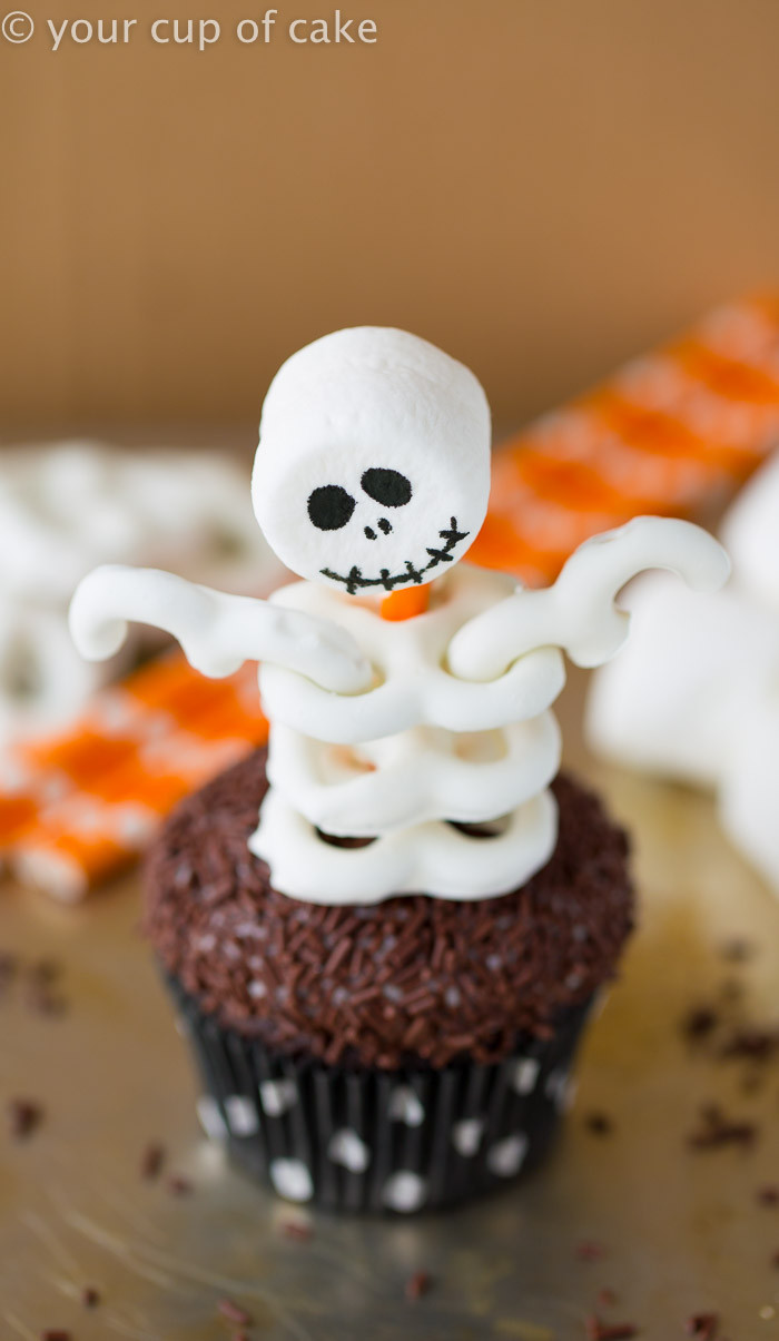Cupcakes For Halloween  Skeleton Cupcakes Your Cup of Cake