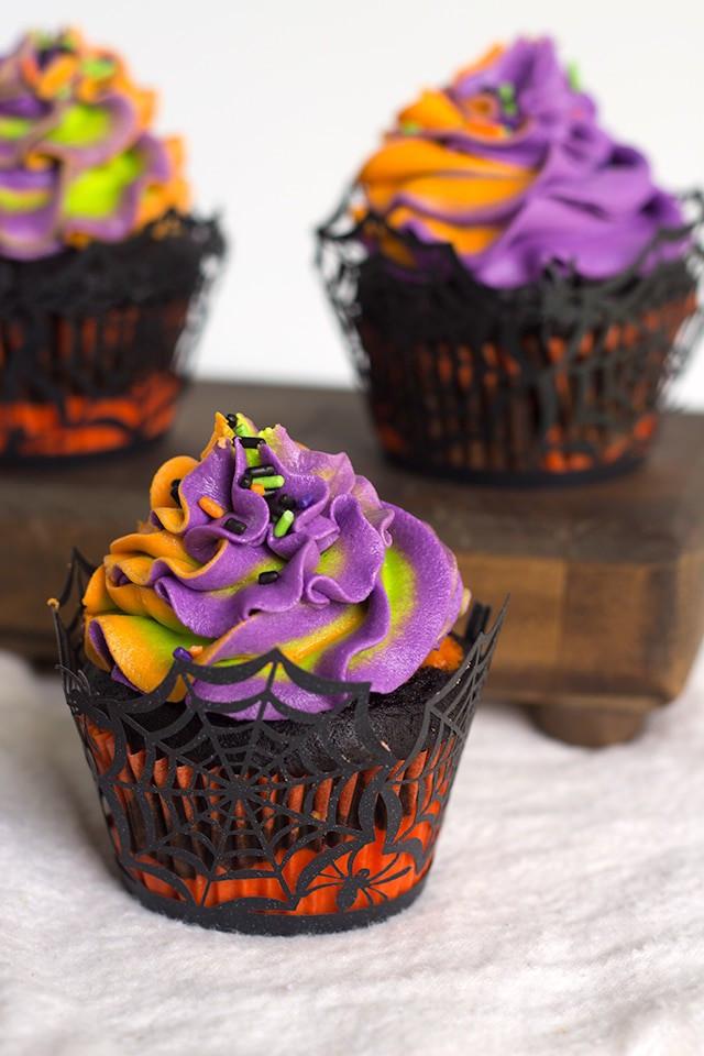 Cupcakes For Halloween  Halloween Swirled Cupcakes