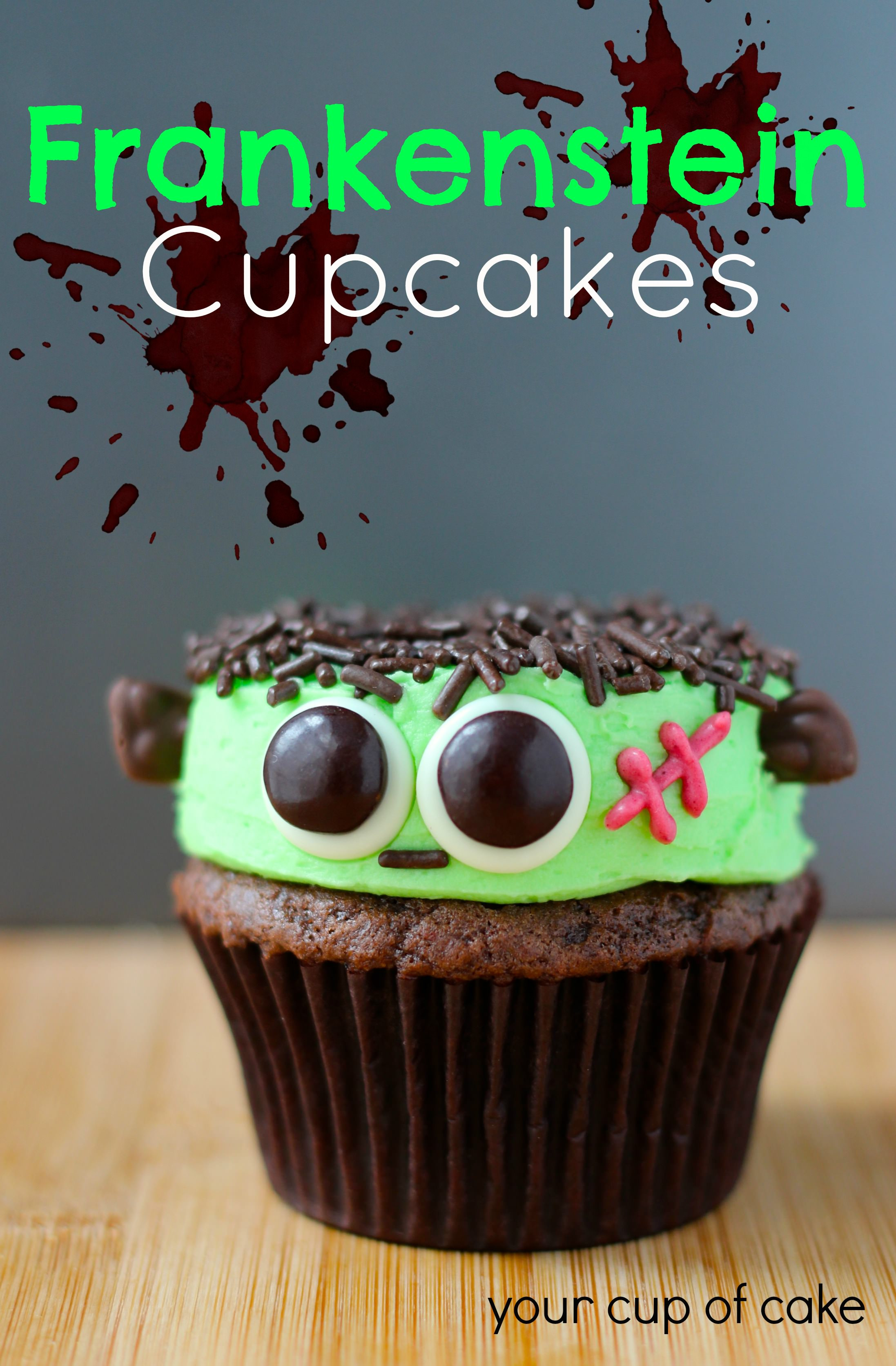 Cupcakes For Halloween  Frankenstein Cupcakes Your Cup of Cake
