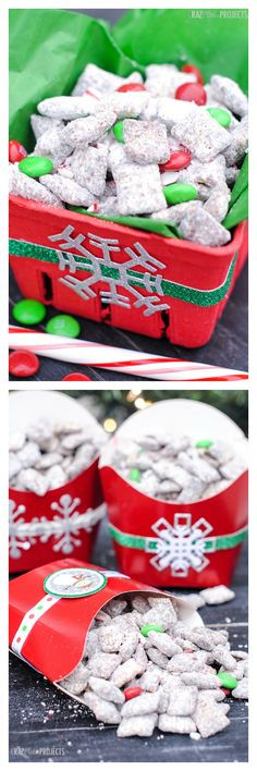 Cute Christmas Candy Ideas  Santa s Snack Mix recipe A fun christmas idea that