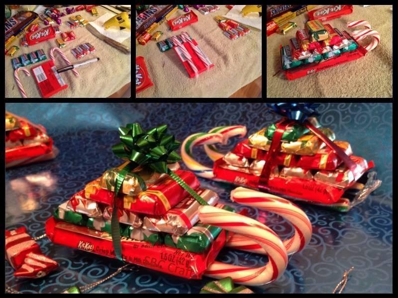 Cute Christmas Candy Ideas  Candy Cane Sleighs