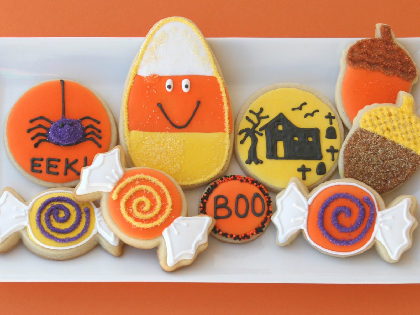 "Cute Halloween Cookies  ""Sweet"" Halloween Cookies – Glorious Treats"