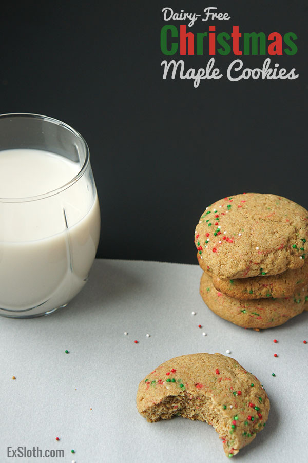 Dairy Free Christmas Cookies  Dairy Free Christmas Maple Cookies Diary of an ExSloth