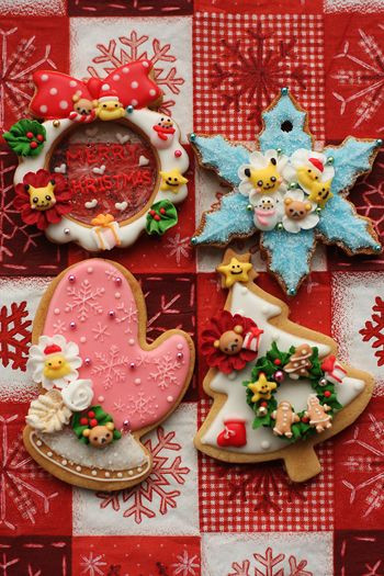 Decorated Christmas Cookies Pinterest  Beautiful Christmas sugar cookies and Cute cookies on