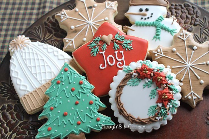 Decorated Christmas Cookies Pinterest  Rustic Christmas Cookies Decorated Sugar Cookies