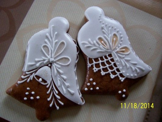 Decorated Christmas Cookies Pinterest  Decorated Bell Cookies Pernicky